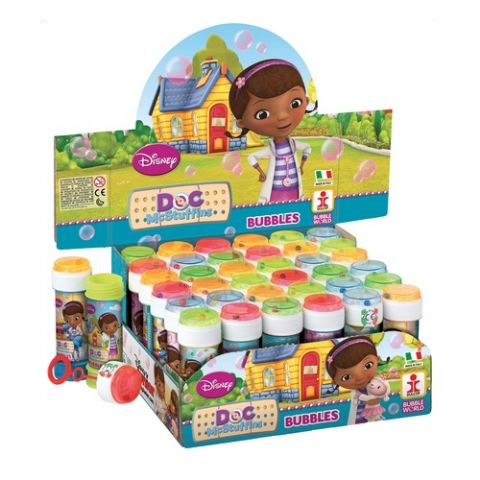 36 x Doc McStuffins - Puzzle Maze Tub Bubbles 60ml Wholesale Box